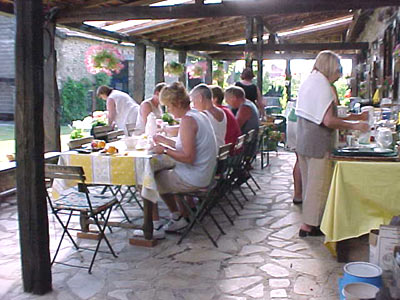 breakfast in Dordogne B&B